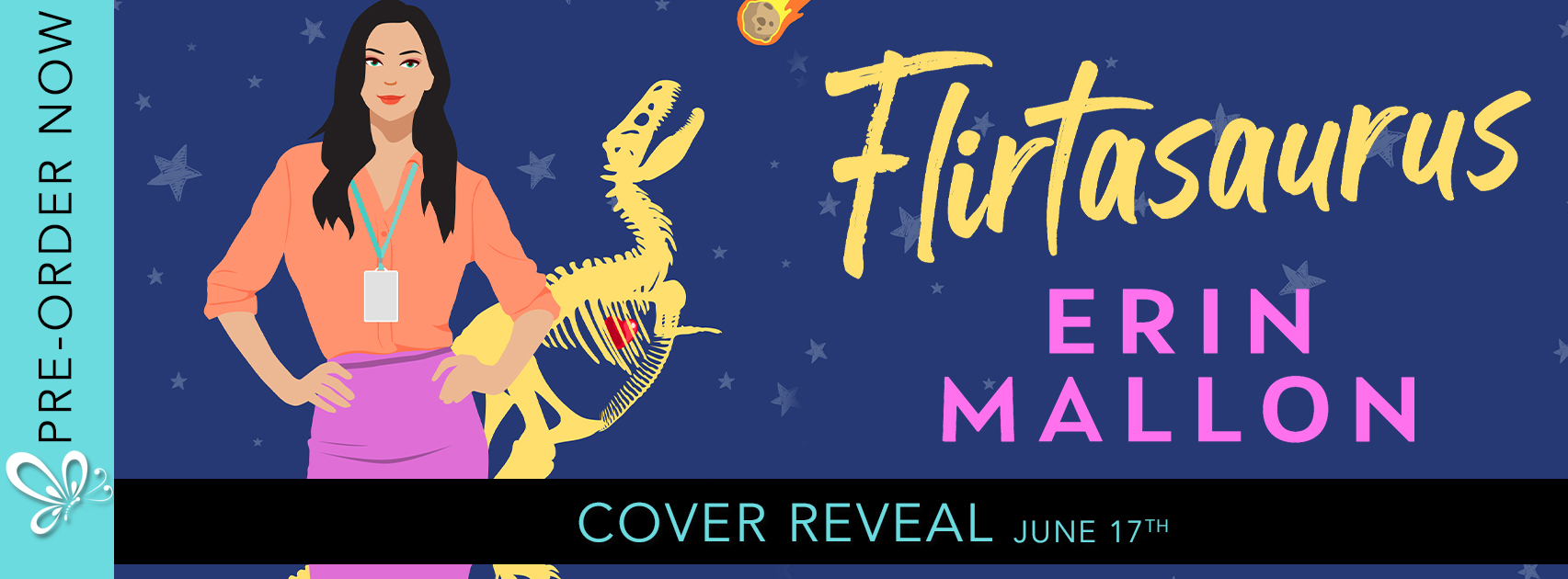 Cover Reveal:  Flirtasaurus by Erin Mallon